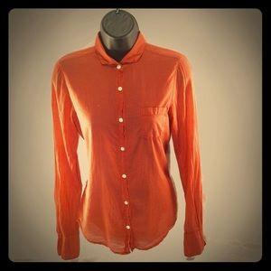 Cashmere & Cotton Hartford Orange Button Up Shirt